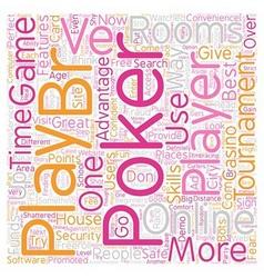 Online poker rooms2 text background wordcloud vector