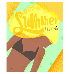 Poster summer feeling vector