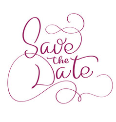 Save the date text on white background vector