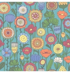 seamless color floral pattern vector image vector image