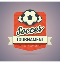 Soccer tournament badge vector