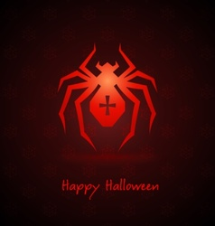 Spider for halloween vector
