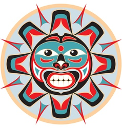 Sun in native american style vector