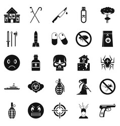 Tension icons set simple style vector