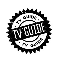 tv guide rubber stamp vector image vector image