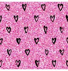 Valentines day heart gold glitter pattern vector
