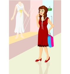 Window Shopping vector image