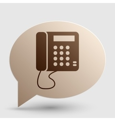 Communication or phone sign brown gradient icon vector