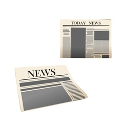 Newspaper icons with detailed elements vector image