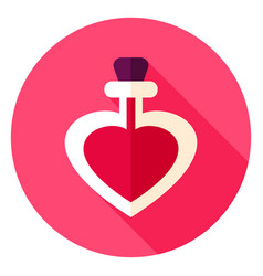 Love potion circle icon vector