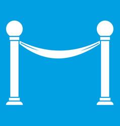 Column with ribbon icon white vector