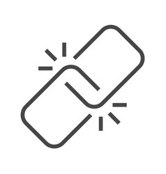 Link thin line icon vector