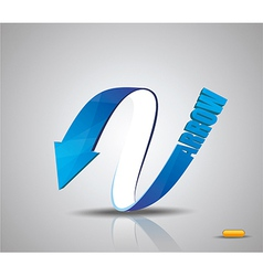 Blue arrow symbol vector