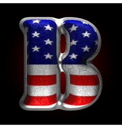 American metal figure b vector