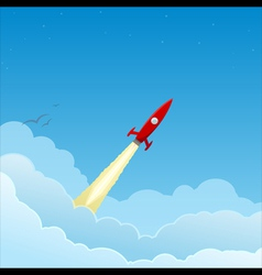 Rocket to the sky vector