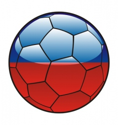haiti flag on soccer ball vector image