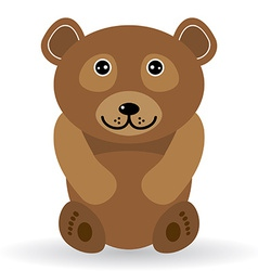 Funny bear on a white background vector