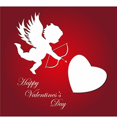 Valentines day cupid background vector