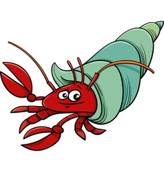 Sea hermit crab cartoon vector