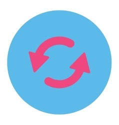 Refresh ccw flat pink and blue colors round button vector