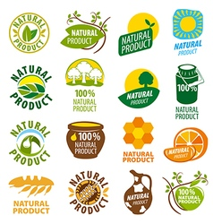biggest collection of logos natural product vector image
