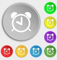 Alarm clock sign icon wake up alarm symbol symbols vector