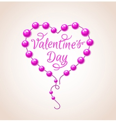 Pink heart for valentines day vector