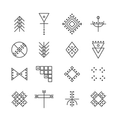 Set of geometric hipster shapes 4r vector