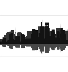 Silhouette of a tall buildings lots vector