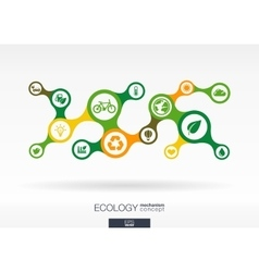 Ecology growth abstract background with connected vector