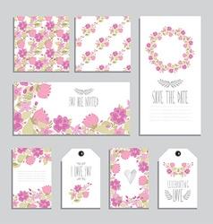 floral cards set vector image