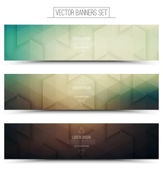 3d technology web banners vector