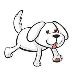 A smiling dog vector image vector image