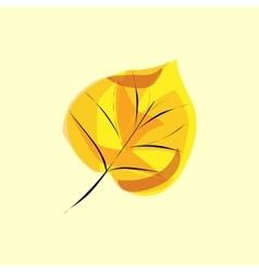 Autumn tree leaf birch vector