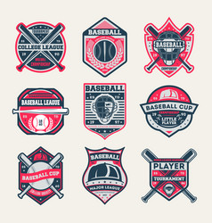 baseball championship vintage isolated label set vector image vector image