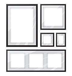 Black picture frame set vector