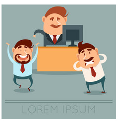 business concept about boss choice vector image vector image