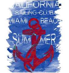 California surf club tee graphic design vector