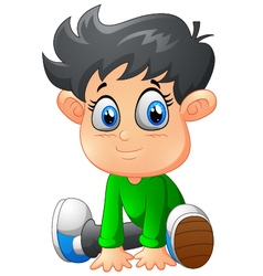 Cartoon boy sitting vector