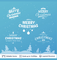 Christmas background design template vector