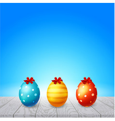 Colorful eggs happy easter vector