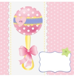 Cute template for baby postcard vector image vector image