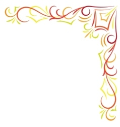 Doodle color abstract corner frame vector