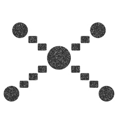 Dotted Links Grainy Texture Icon vector image vector image