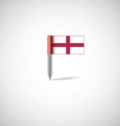 england flag pin vector image
