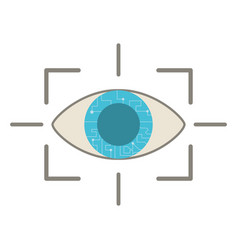 Eye virtual reality concept vector