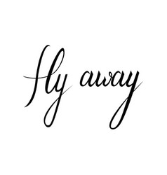 fly away text vector image