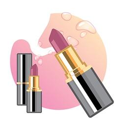 Glamorous lipsticks ads vector