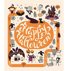 Halloween Party Poster map vector image