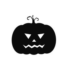 halloween pumpkin icon cute black vector image